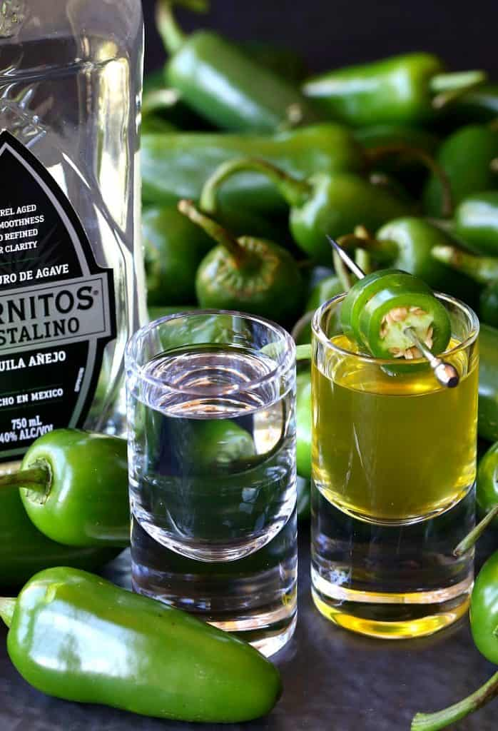 This Jalapeñoback Shot is my spicy twist on a Pickleback Shot!