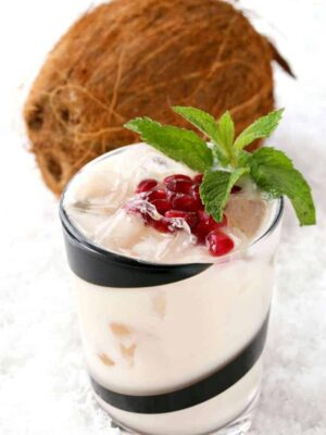 This Naughty Snowman Coconut Cooler is perfect for your winter cocktail parties!
