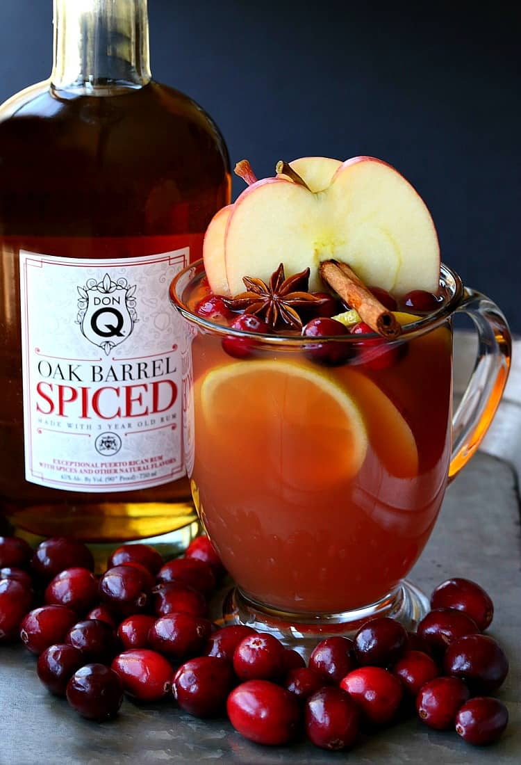 Make this Slow Cooker Spiced Rum Cocktail for a stay at home cold weather cocktail!