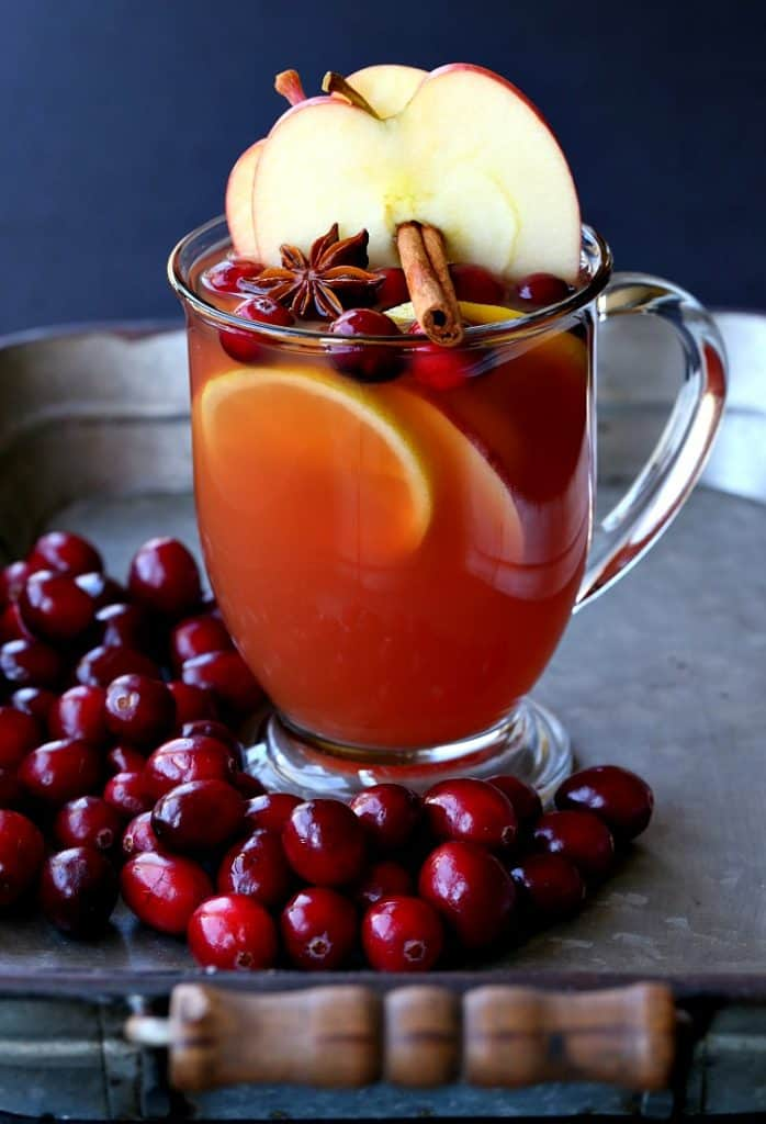 Make this Slow Cooker Spiced Rum Cocktail to warm you up on on the inside!