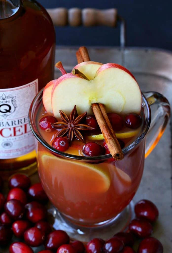 Try this Slow Cooker Spiced Rum Cocktail to warm you up on a cold night!