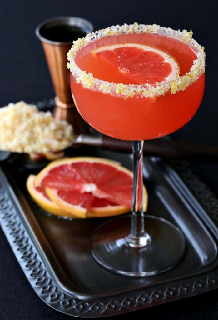 This Bourbon Grapefruit Sidecar is perfect for happy hour or brunch!