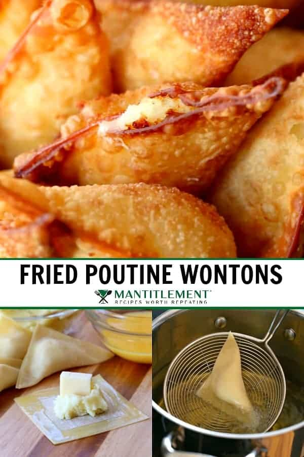 fried poutine wontons collage for pinterest