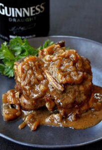 Beer Braised Lamb Chops