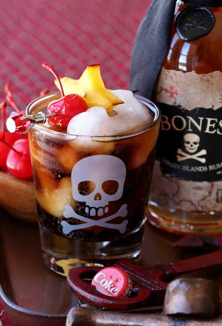 Make a Blackbeard's Rum and Coke for cocktail time!