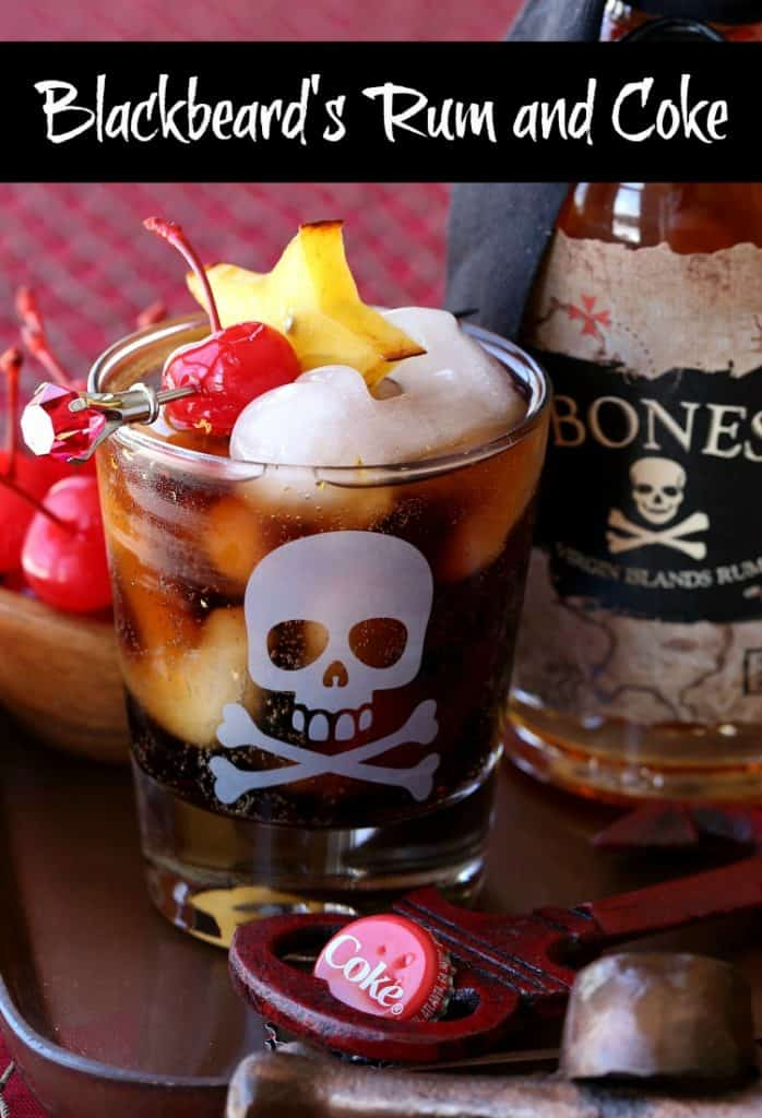 This Blackbeard's Rum and Coke is a fun twist on the classic drink!