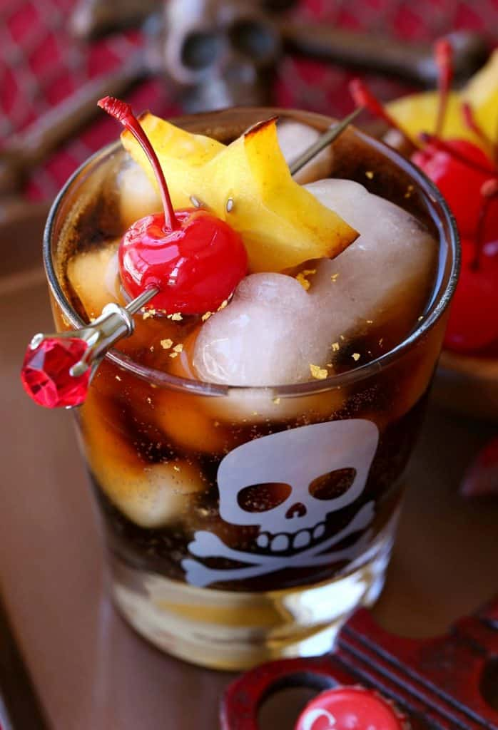 Try this fun Blackbeard's Rum and Coke cocktail for happy hour!
