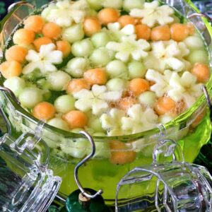 Punch bowl with fruit
