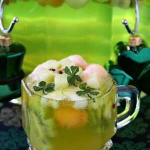 Boozy Shamrock Party Punch