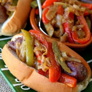 German Style Sausage and Peppers