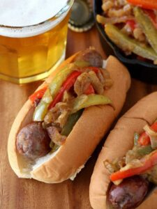 German Style Sausage and Peppers are going to be a hit for dinner!