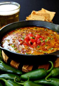 Skillet Sausage and Beer Queso