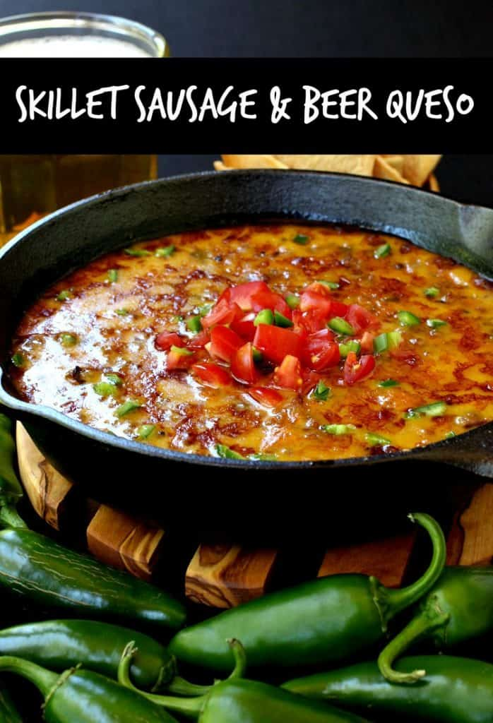 This Skillet Sausage and Beer Queso is one of our favorite appetizers!