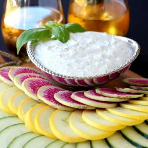 Fresh Ricotta Vegetable Dip