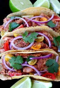 Slow Cooker Turkey Mole Tacos