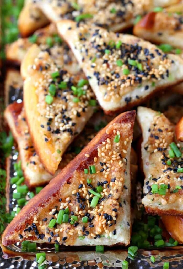 Bacon shrimp toast appetizers