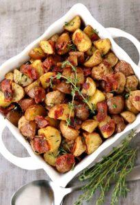 Crispy Oven Roasted Bacon Potatoes