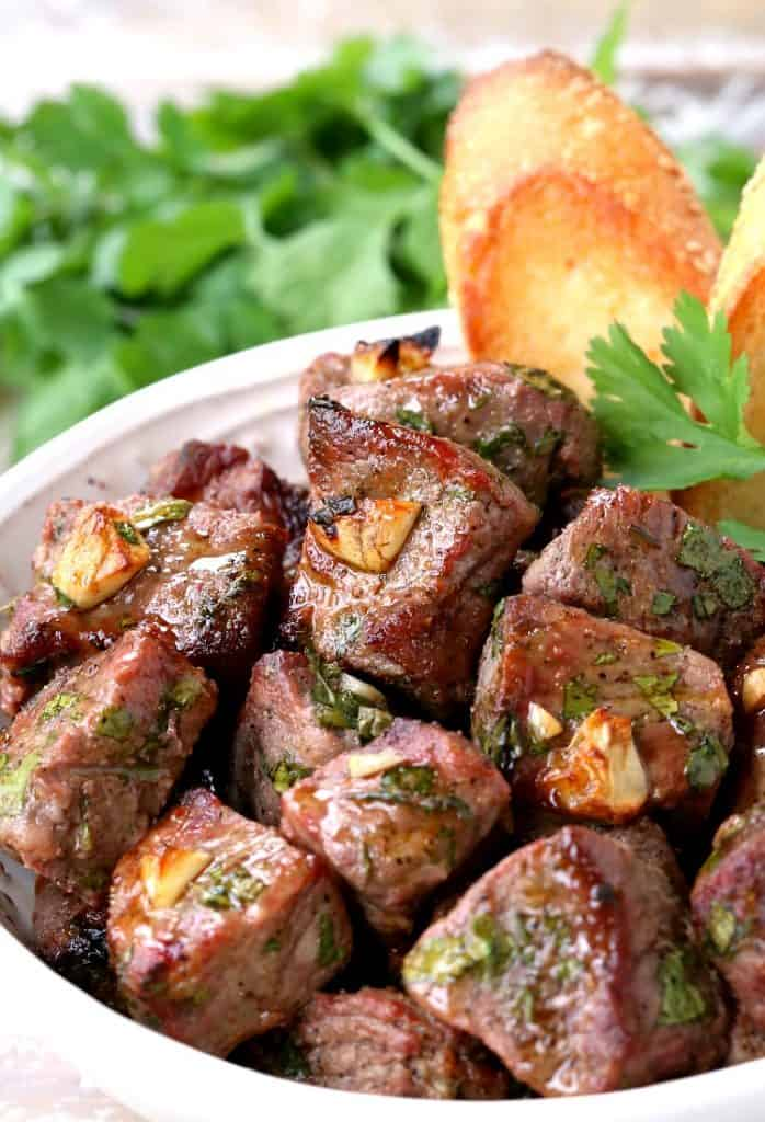 Marinated Steak Tips Recipe for appetizers or dinner