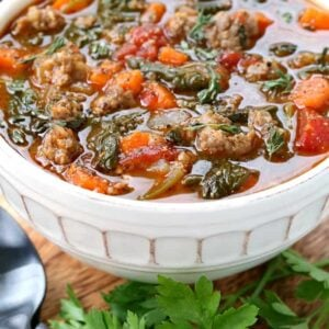 Low Carb Sausage Vegetable Soup
