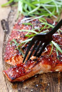 Oven Baked Asian BBQ Salmon