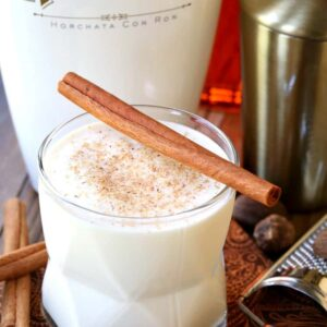 Campfire Milk Punch is a creamy cocktail made with bourbon