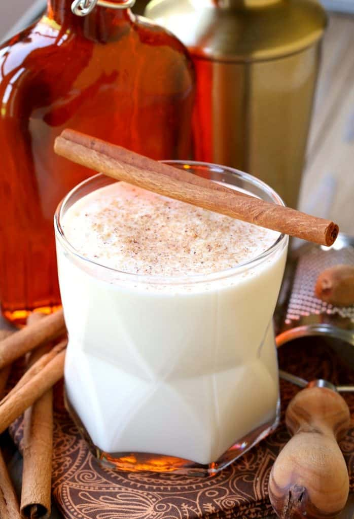 Campfire Milk Punch is a Rumchata cocktail recipe with bourbon