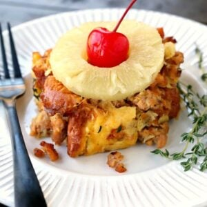Pineapple Upside Down Sausage Stuffing Easy Sausage