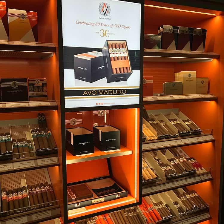 cigars on wall