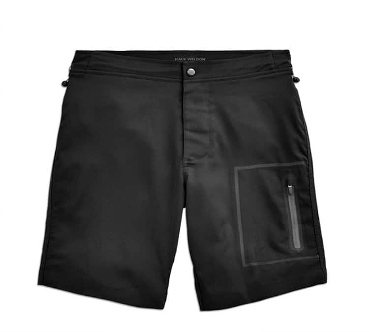 black swim trunk