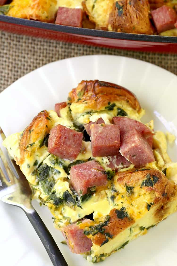 Taylor Ham Egg and Cheese Casserole is a simple breakfast recipe that you can make the night before and cook the next morning