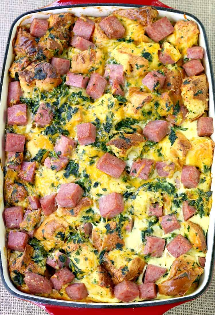 Taylor Ham Egg and Cheese Casserole is a breakfast casserole recipe made with taylor ham