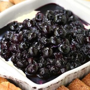 No Bake Blueberry Cheesecake Dip