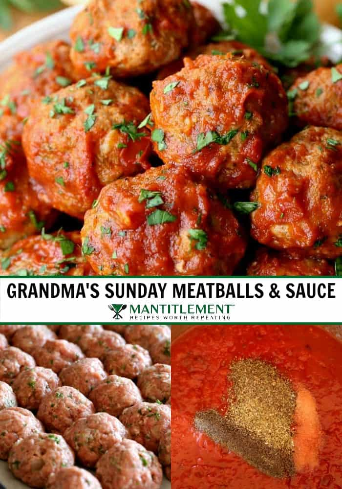 Homemade Meatballs and sauce recipe for spaghetti