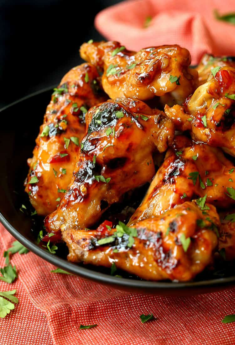 Slow Cooker Sweet Chili Chicken Wings are a crock pot chicken wing recipe