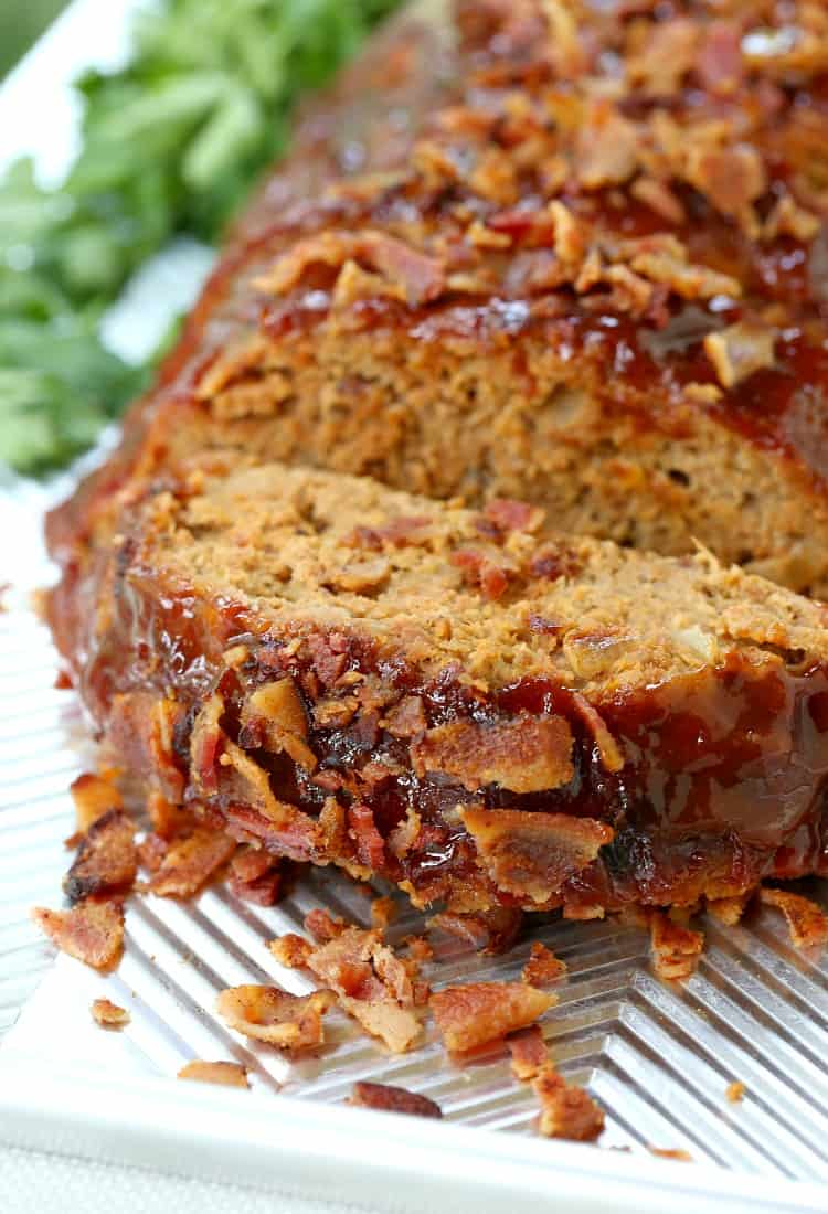 Tasty AF Turkey Meatloaf Recipe is a meatloaf recipe with bacon and cheese