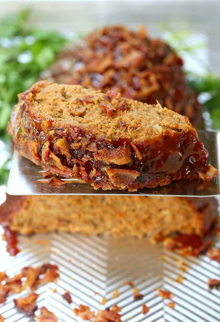 Tasty AF Turkey Meatloaf Recipe is a turkey meatloaf with bacon and cheese