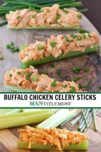 Buffalo Chicken Celery Sticks are a low carb chicken recipe