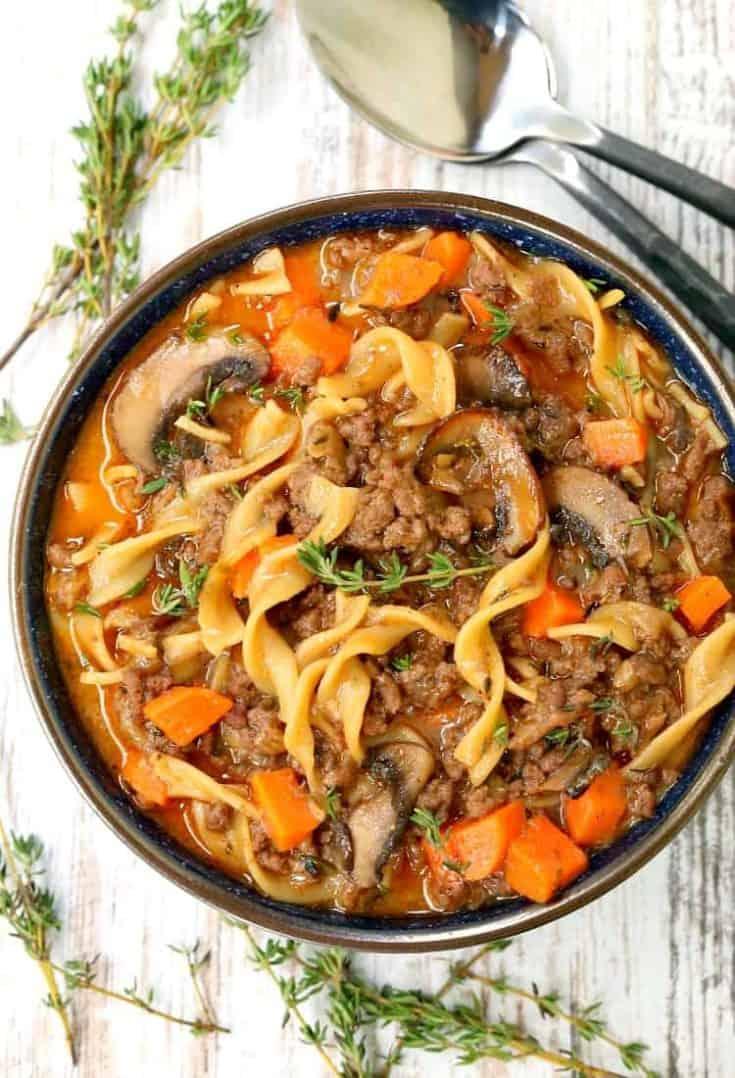 Beef Burgundy Mushroom Soup
