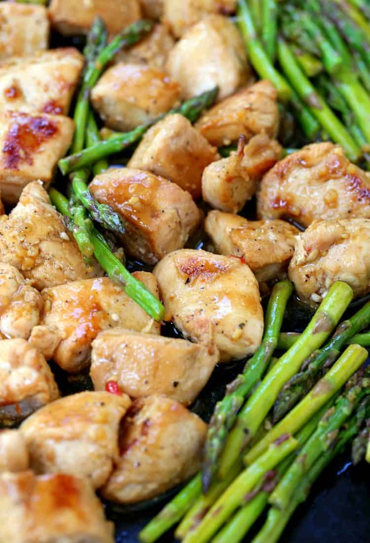 chicken and asparagus sheet pan dinner