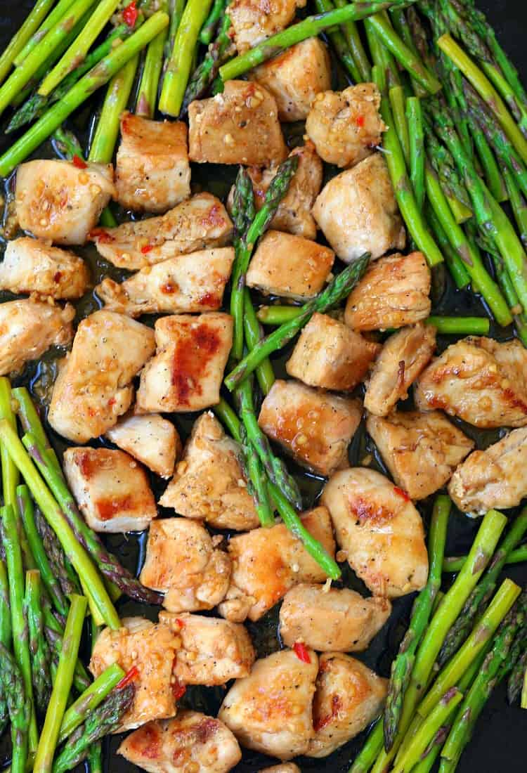 chicken sheet pan and asparagus dinner recipe