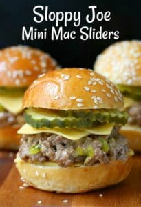 Sloppy Joe Mini Mac Sliders are an easy appetizer recipe that can also be served for dinner
