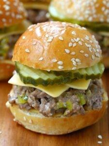 Sloppy Joe Mini Mac Sliders are an easy appetizer recipe with ground beef