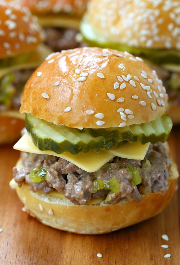 Sloppy Joe Mini Mac Sliders are a slider recipe with loose meat