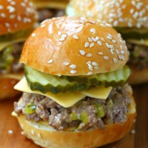 Sloppy Joe Mini Mac Sliders are a copycat slider recipe that taste like a big ma