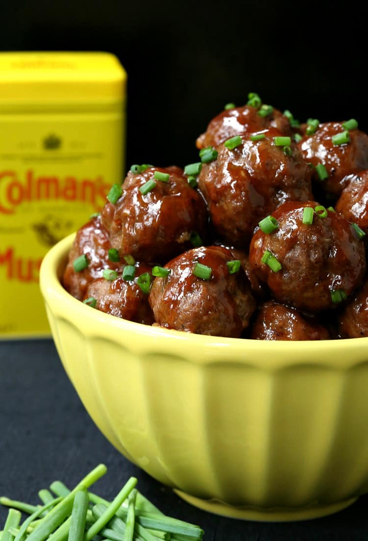 Zesty Mustard Glazed Cocktail Meatballs are a beef meatball recipe that can be served as appetizers or a light dinner