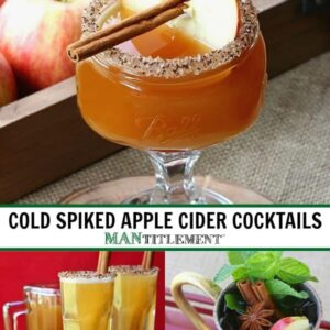 cold spiked apple cider cocktails collage for pinterest