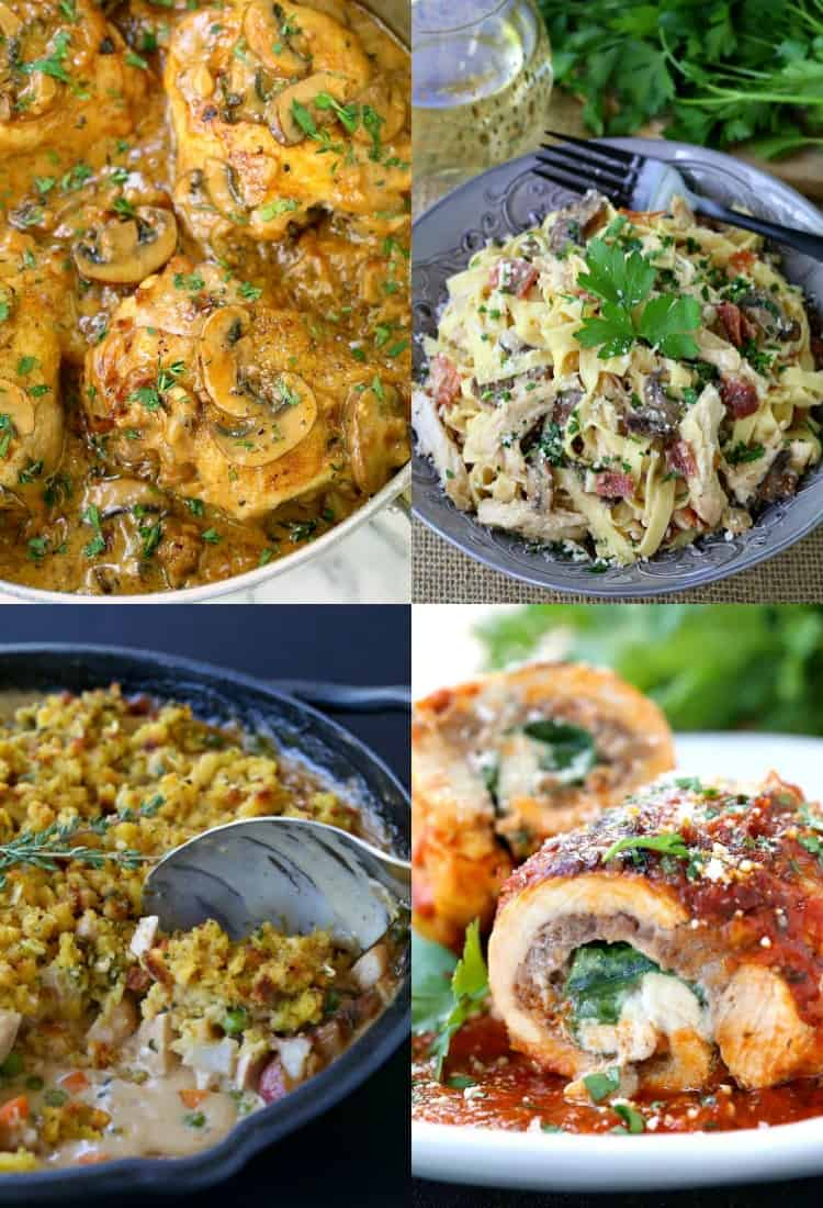Our Favorite Chicken Dinner Recipes is a collection of chicken recipes for appetizers or dinner