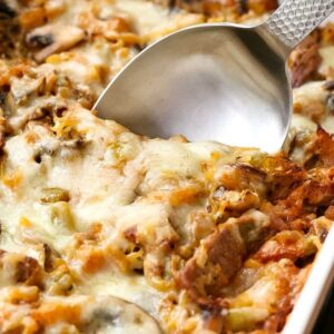 Philly Cheesesteak Spaghetti Squash Casserole