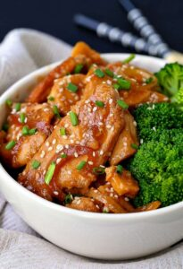 Slow Cooker Mongolian Chicken is an easy asian chicken recipe that can be served with broccoli