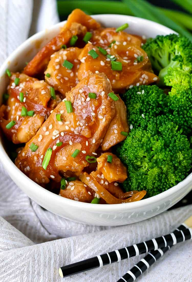 Slow Cooker Mongolian Chicken is a fast crock pot recipe that only needs for hours to cook